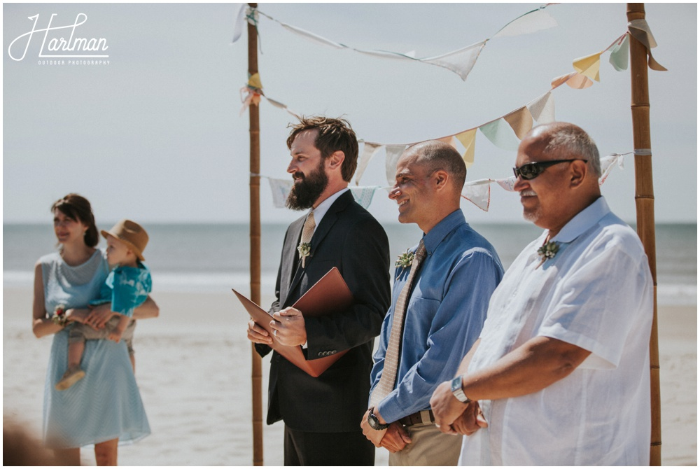 Outer Banks Beach Wedding Ceremony _0015