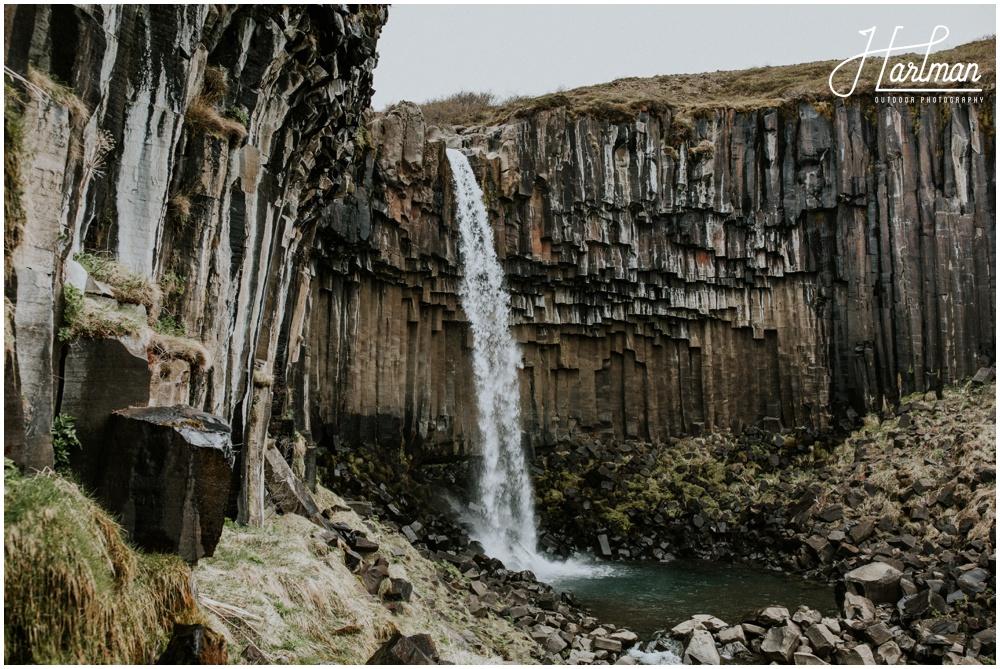 Svartifoss Skaftafell Waterfall _0009