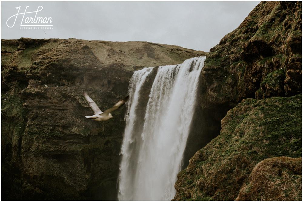 Waterfall Wedding Ceremony Location Iceland _0008