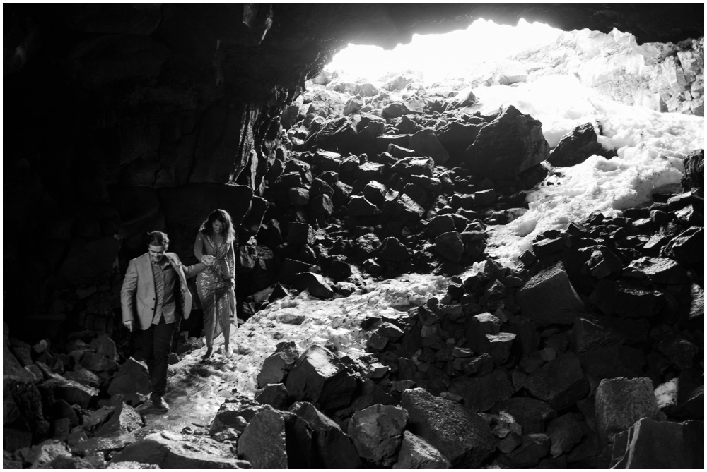 Iceland Ice Cave Engagement Session