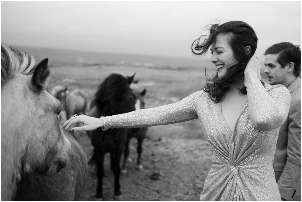 Icelandic Horses Wedding Bride