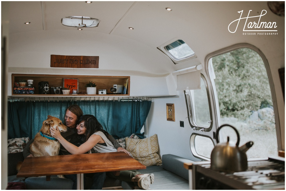 Engagement Session in Airstream RV Trailer _0007