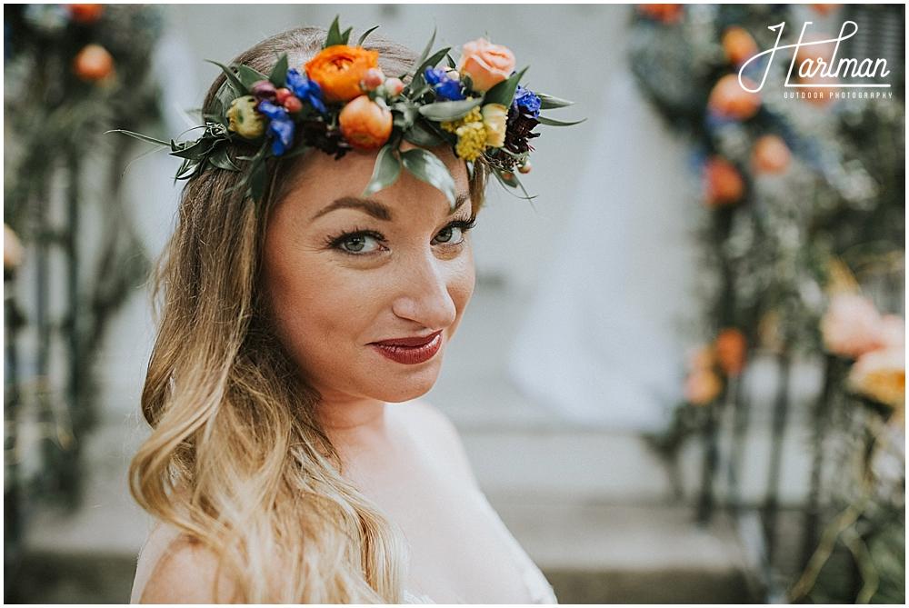 Asheville bridal flower crown 0019