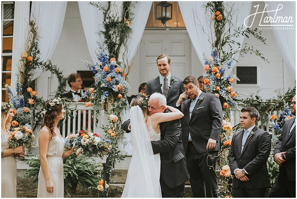 Asheville outdoor wedding ceremony _0032