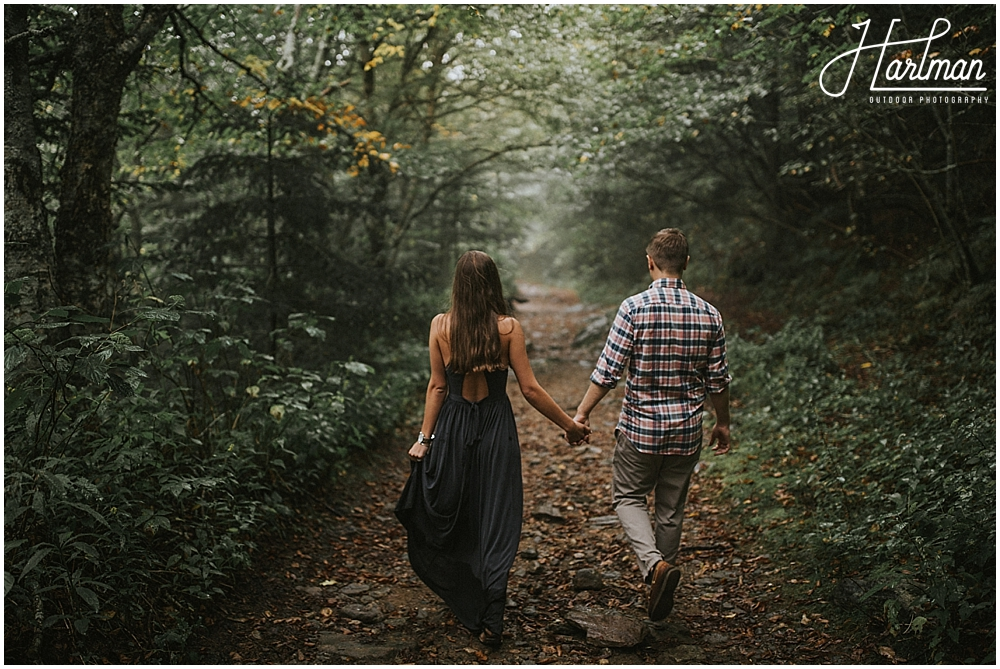 shining rock wilderness engagement session _0028