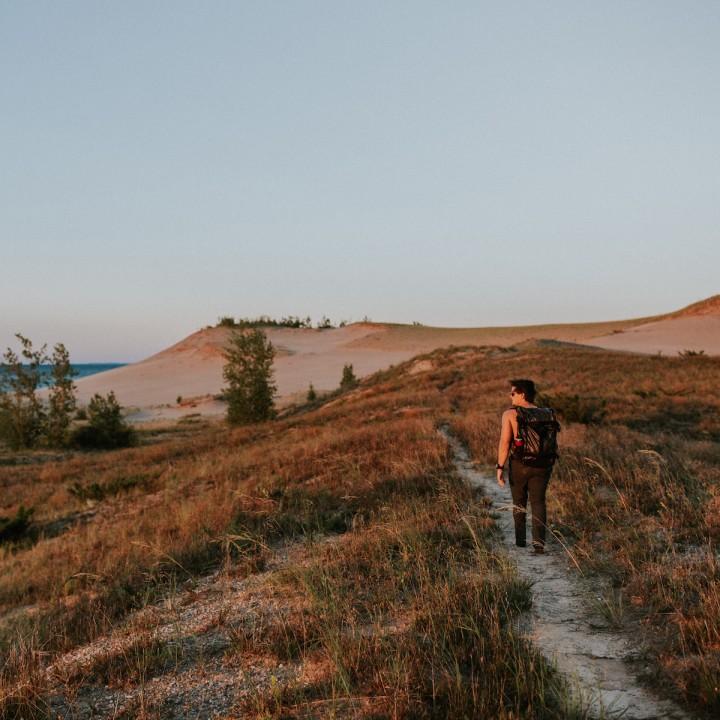 Michigan   Hiking Sleeping Bear Dunes