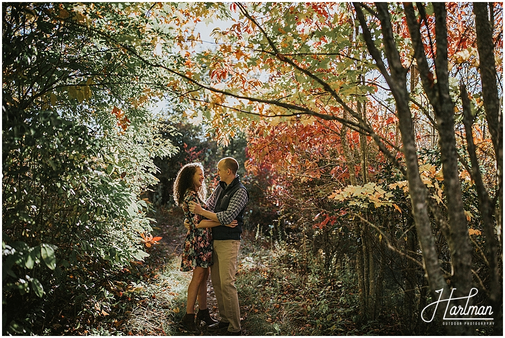 Asheville fall engagement session