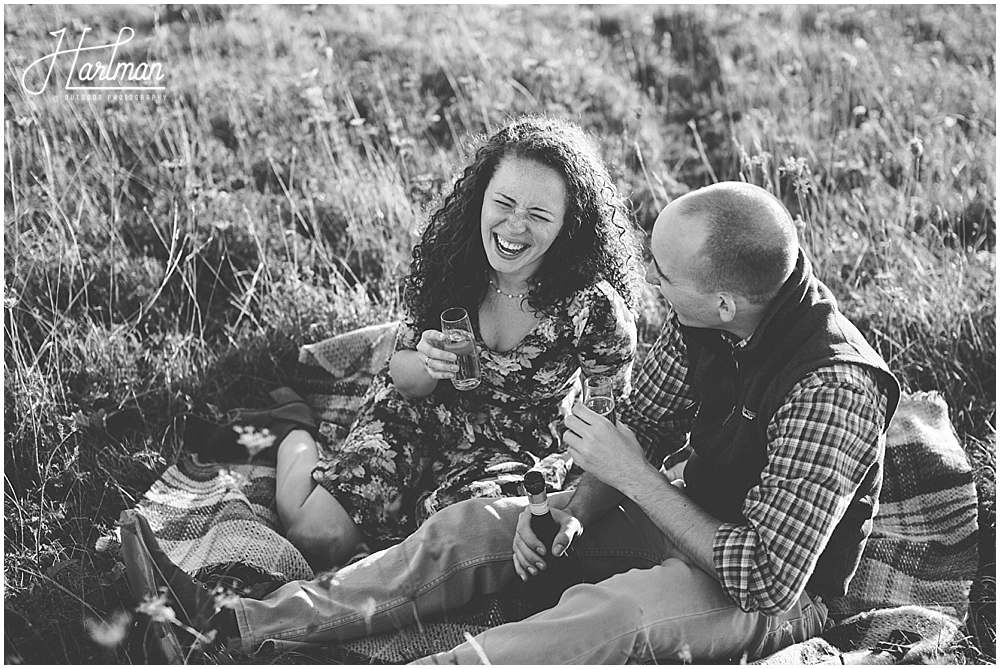 asheville outdoor engagement session