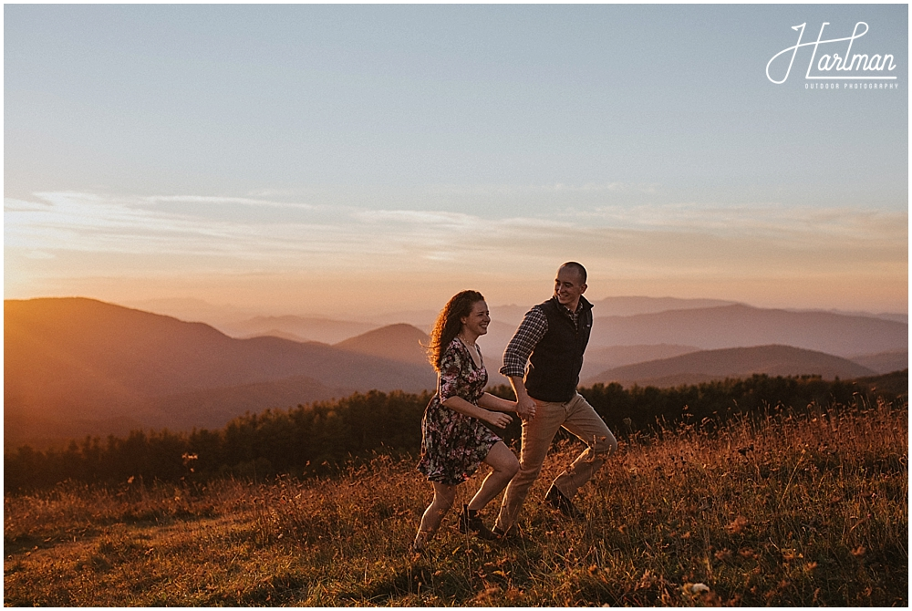 engagement session at max patch