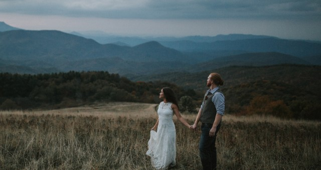 Brittany + Adam | Asheville Elopement on Max Patch Mountain