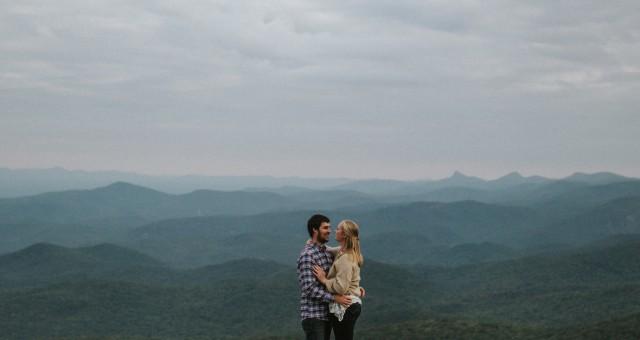 Brooke + Craig   Boone Mountain Engagement Session