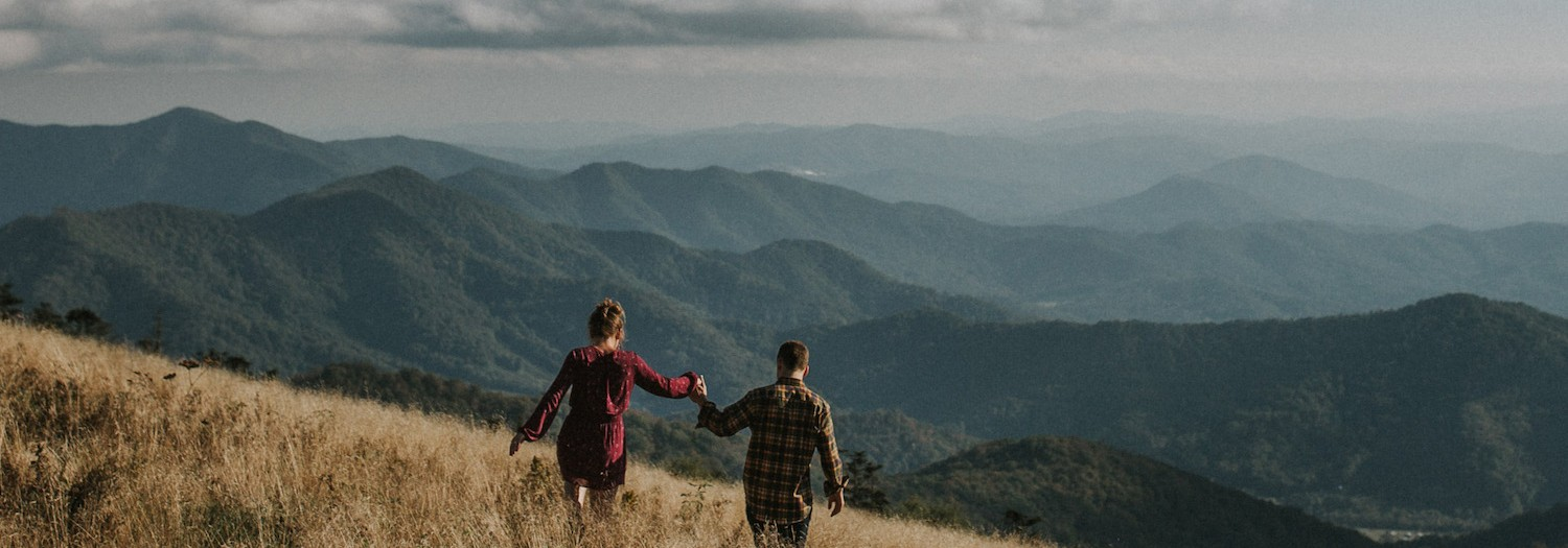 Casey + Dan | Roan Mountain Tennessee Adventure Engagement