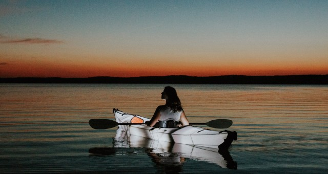 North Carolina   Nighttime Lake Paddle