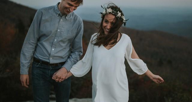 Julia + Steve   Blue Ridge Parkway Engagement, Boone, NC