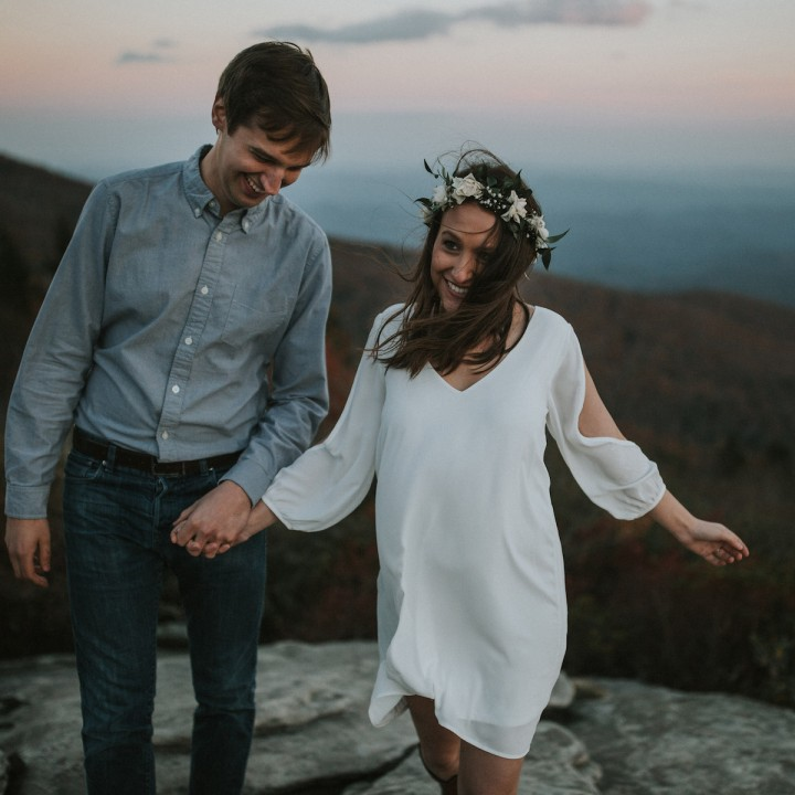 Julia + Steve | Blue Ridge Parkway Engagement, Boone, NC