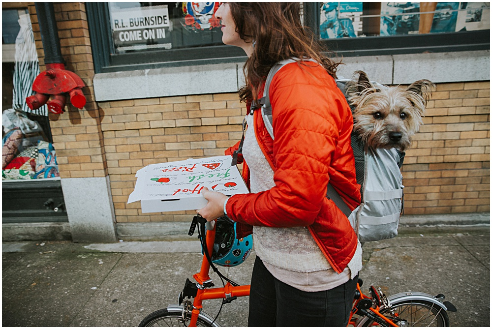 Portland Biking Dog