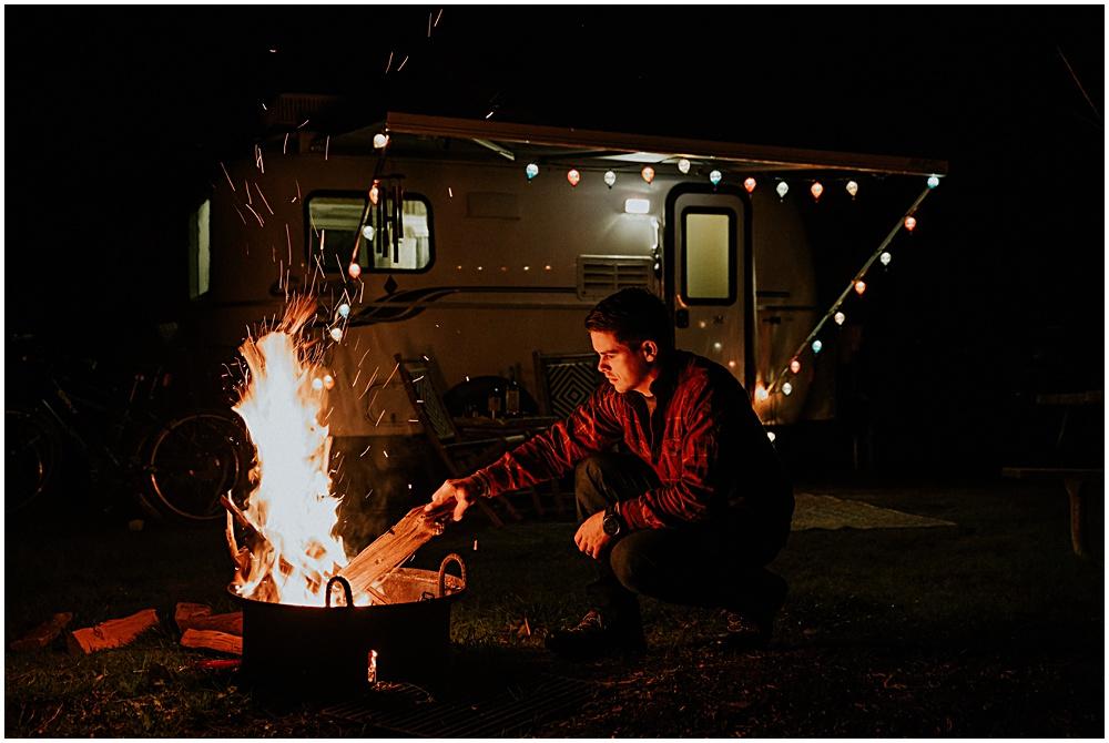 Campfire Boondocking Tiny House