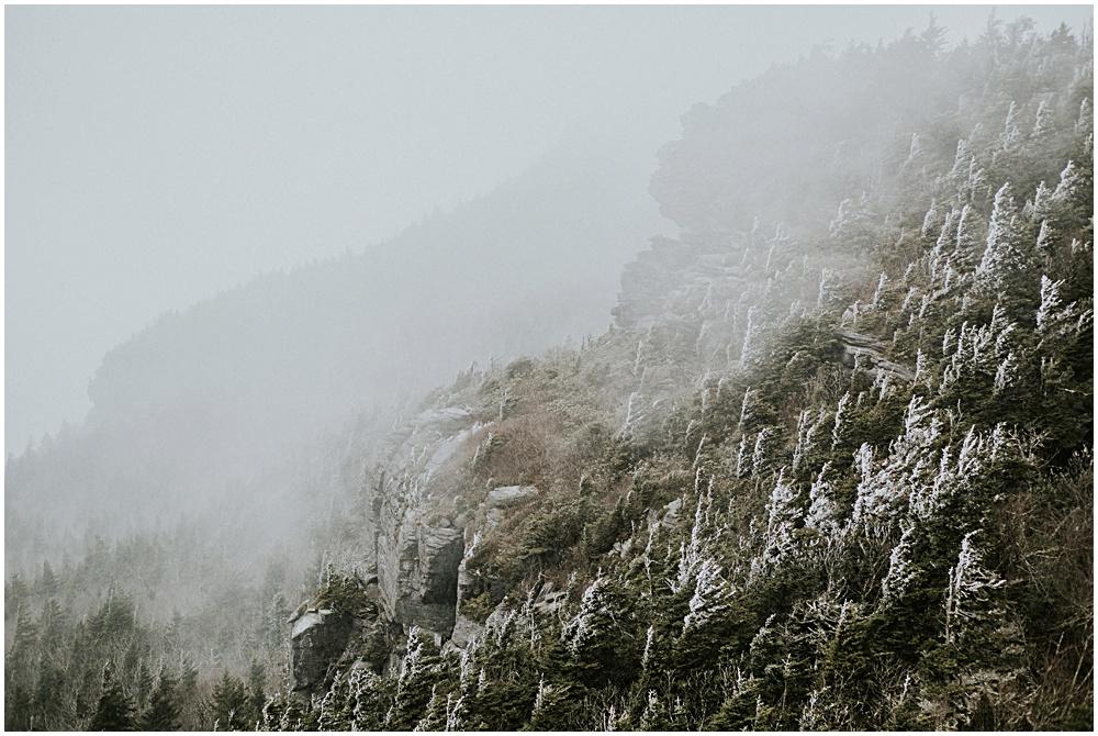 Grandfather Mountain Snowy Winter