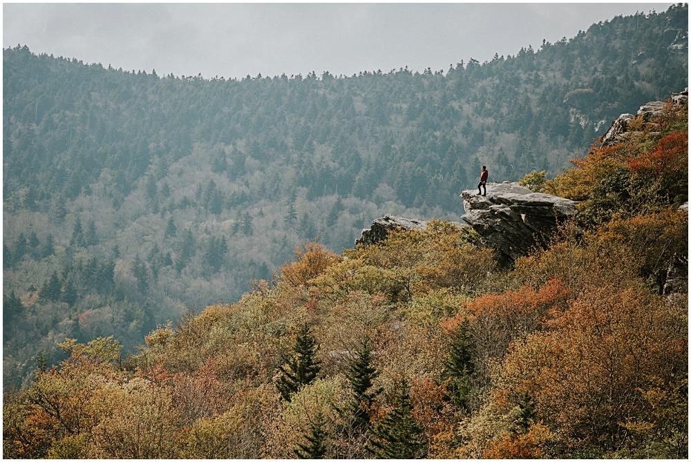 Cliffside Rough Ridge Fall North Carolina