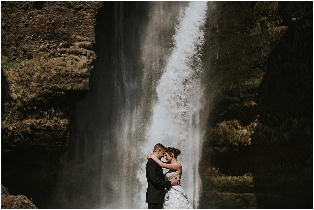 Waterfall Iceland Engagement Wedding Shoot