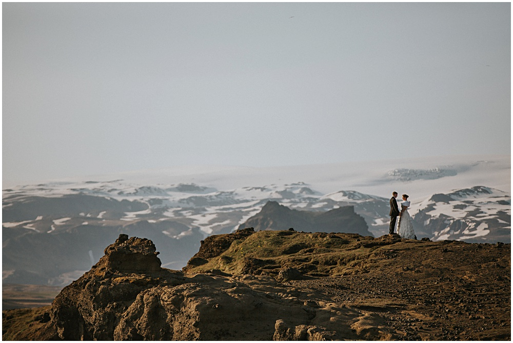 Wedding Iceland Vik Cliffside