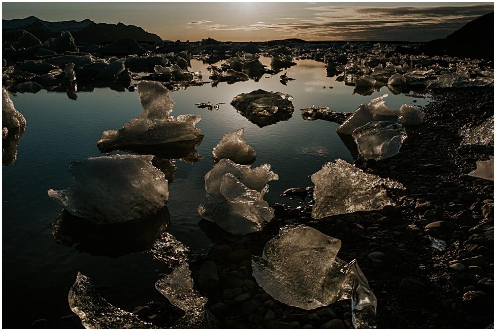 Iceland Jokulsarlon Sunset Engagement