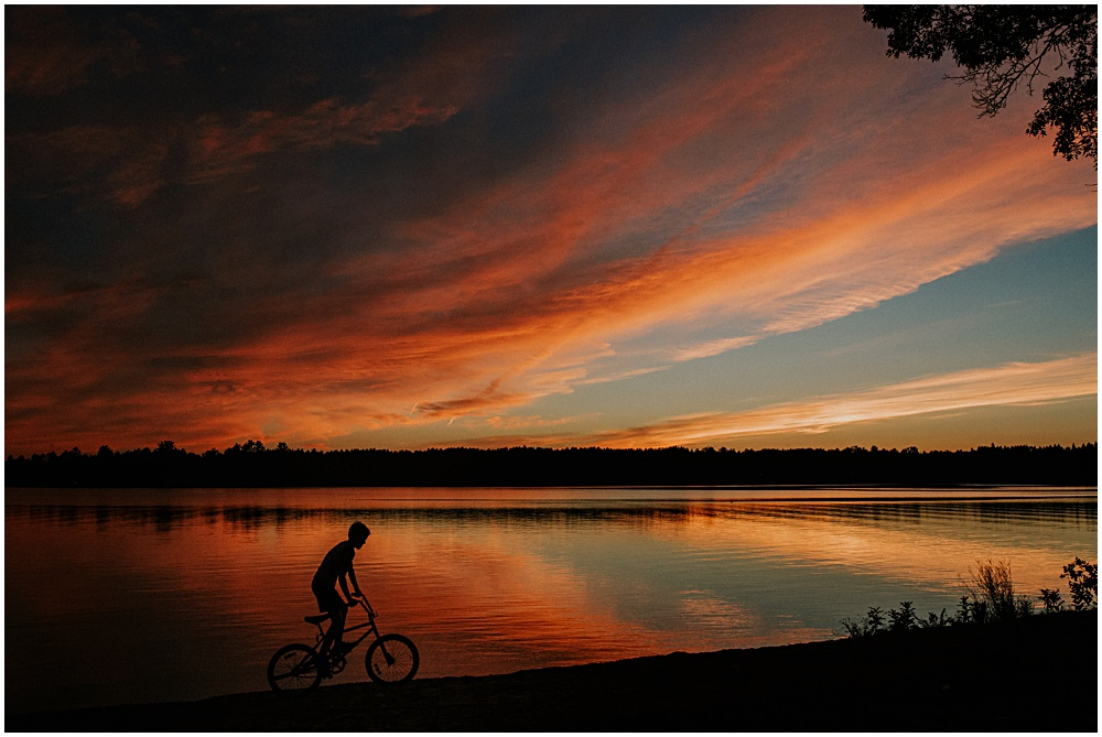 Biking Lake Michigan Alcona