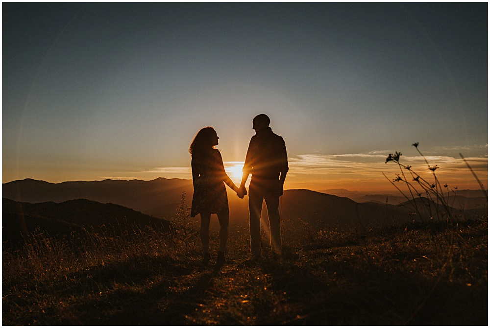 Max Patch Sunset Engagement Session