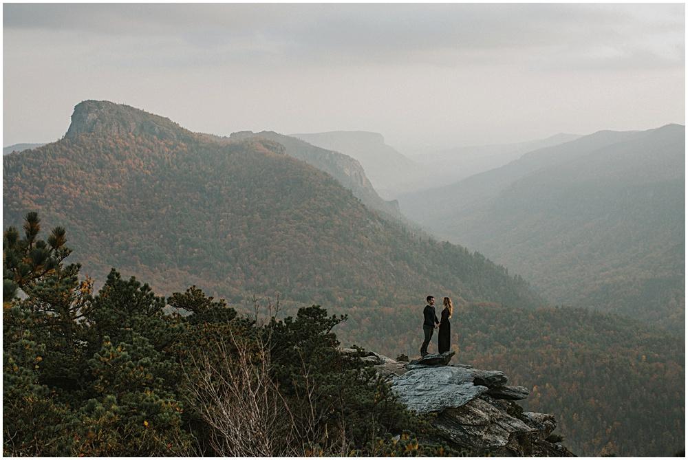 Cliffside Engagement Proposal North Carolina Asheville