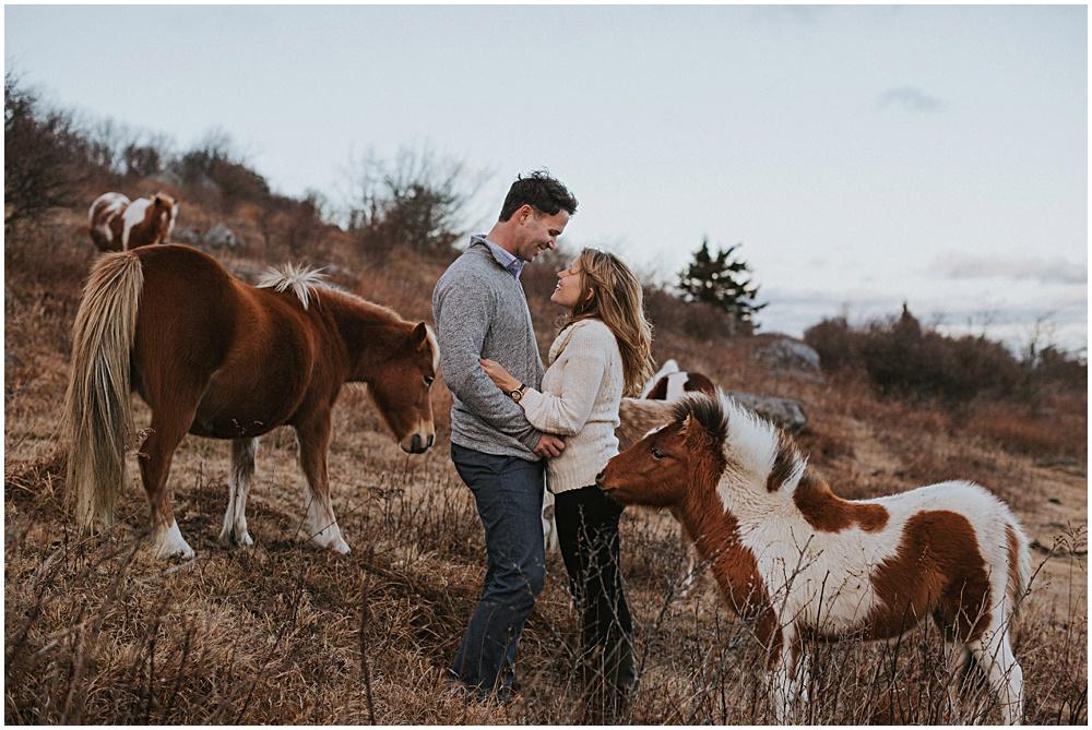 Wild Ponies Engagement Session Virginia