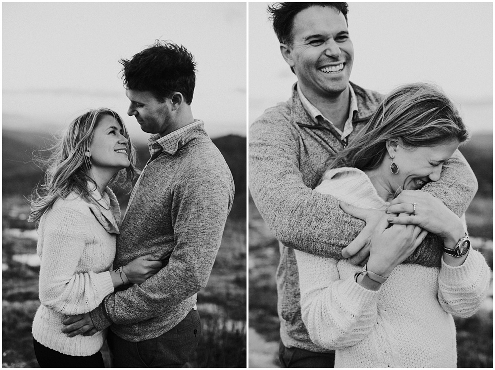 Grayson Highlands Ponies Engagement Session Virginia
