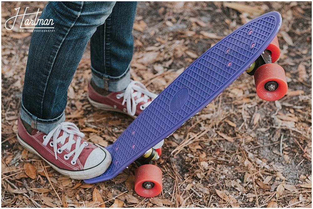 skateboard engagement session
