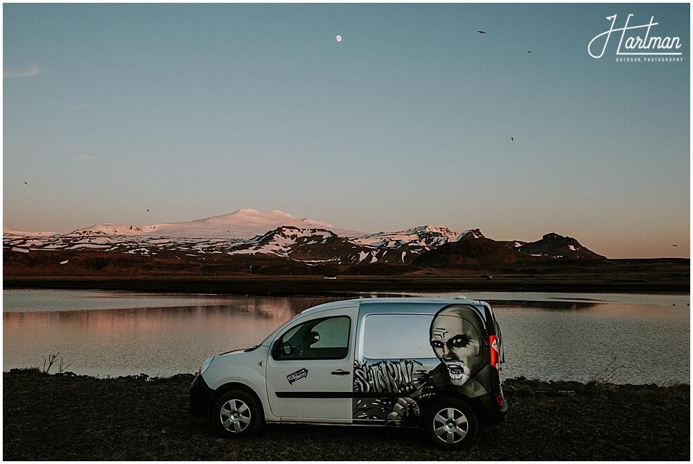 kuku camper van Iceland