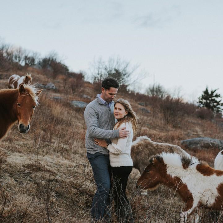 Kealy + Garrett | Virginia Mountain Adventure with Wild Ponies