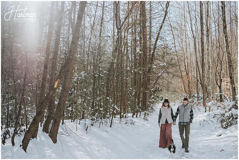 North Carolina snow engagement
