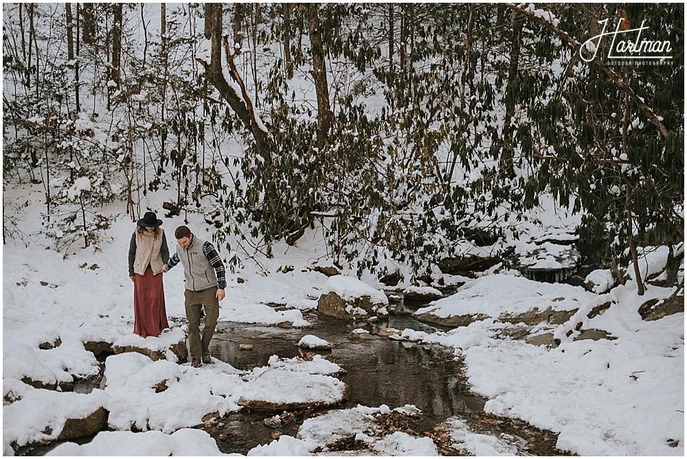 Asheville winter elopement