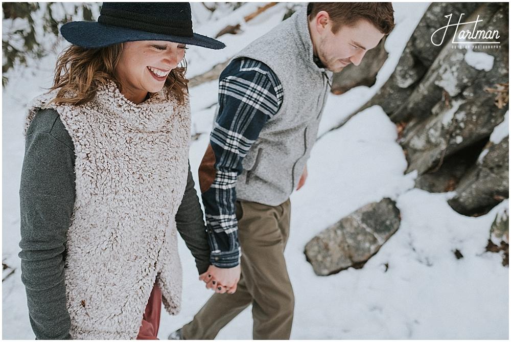 Snowy winter elopement