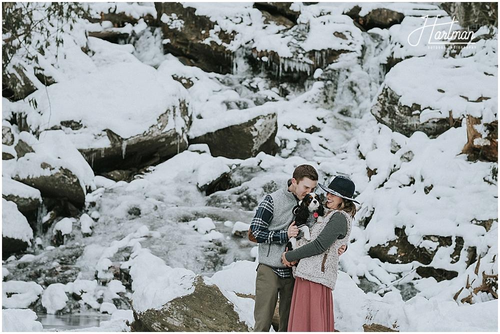 Outdoor wedding in snow