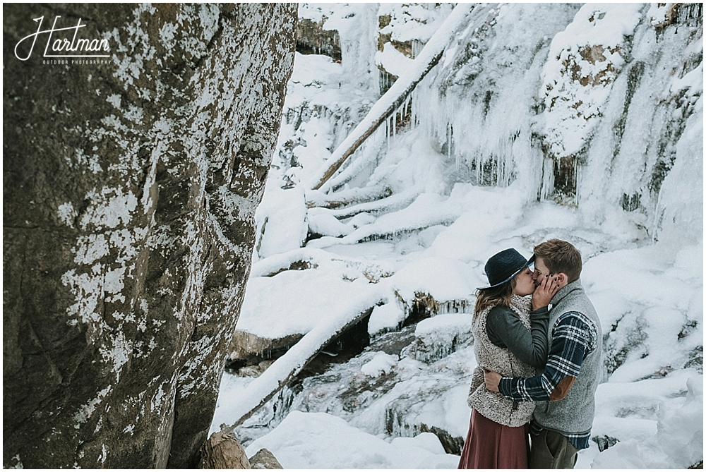 North Carolina waterfall elopement