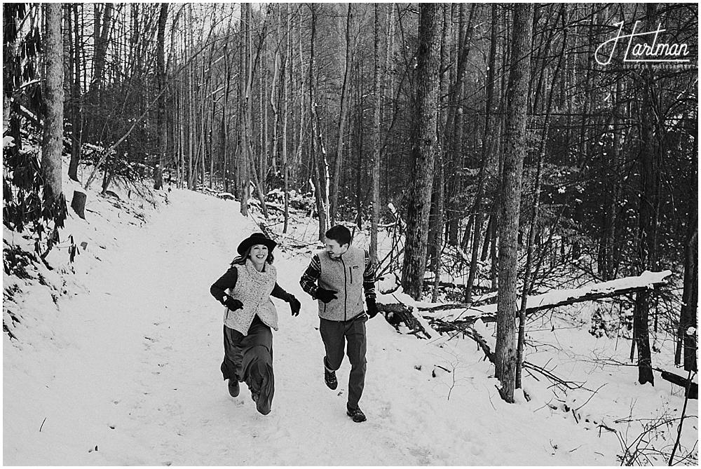 Boone NC winter wedding