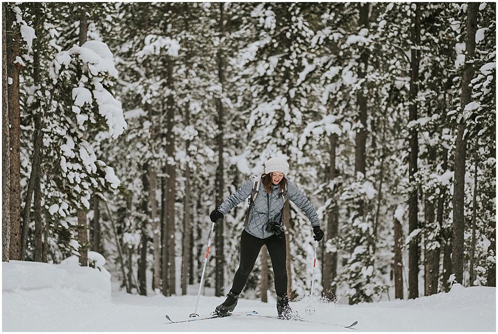 rocky mountain national park ski wedding