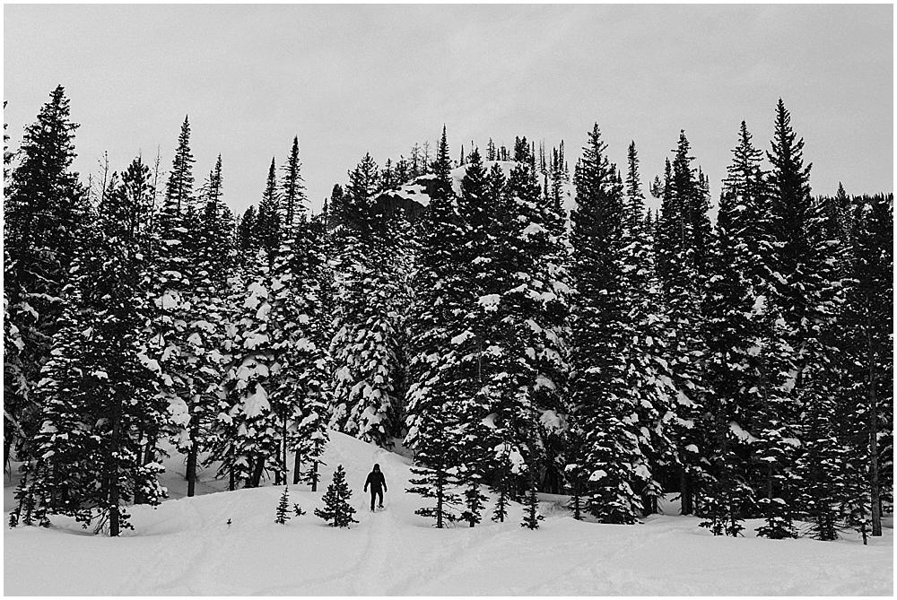 winter Rocky Mountain National Park wedding
