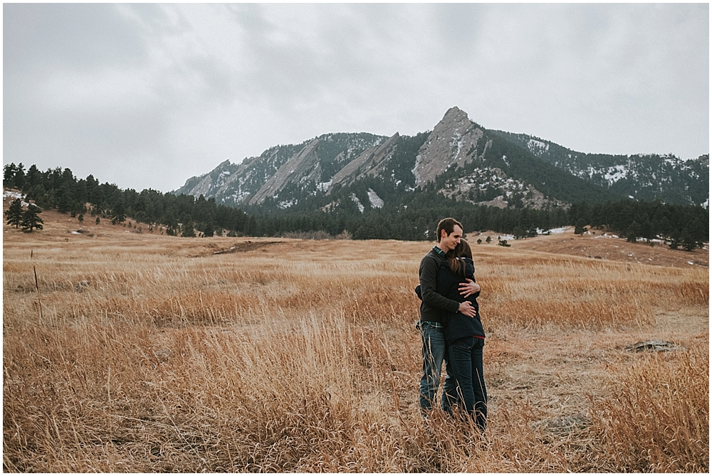 Boulder Flatirons couples session