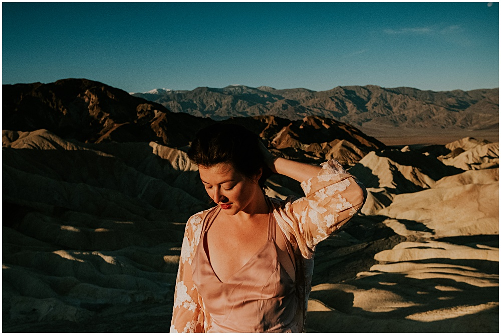 Death Valley National Park bridal portraits