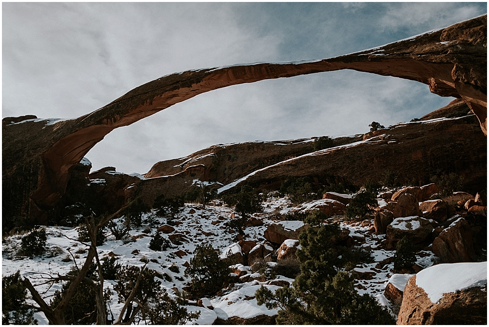 Arches elopement in Moab Utah