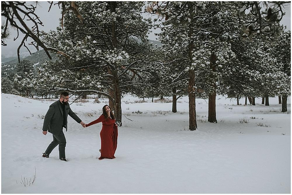 Estes Park outdoor wedding photographer