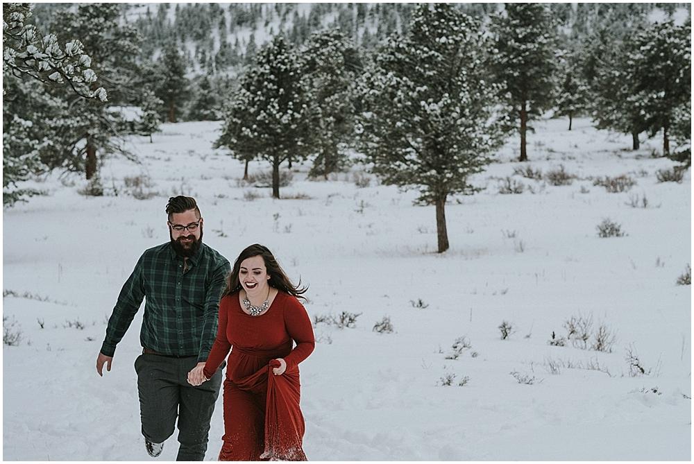 winter elopement Rocky Mountain National Park