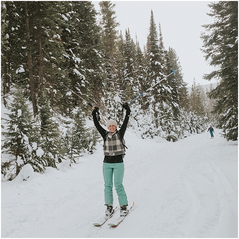 Colorado winter ski wedding