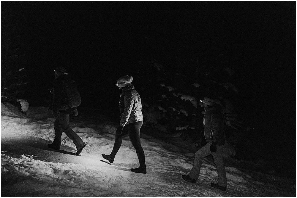 Hiking at night