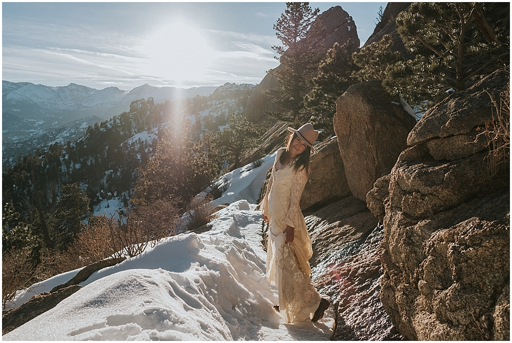 Rocky Mountains National Park engagement session